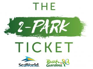 2-Park SeaWorld and Busch Gardens Ticket