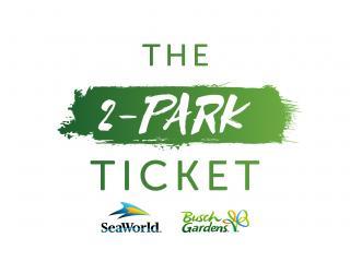 2-Park SeaWorld and Busch Gardens Ticket