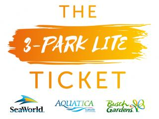 3-Park Lite - SeaWorld, Aquatica and Busch Gardens Ticket