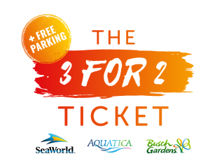 SeaWorld Parks 3 for 2 Ticket with Unlimited FREE Parking