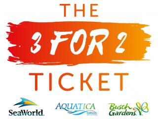 Awesome The 3 For 2 Ticket   SeaWorld, Aquatica And Busch Gardens