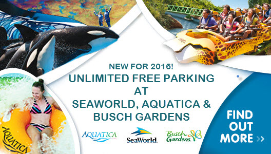 Unlimited Free Parking At Seaworld Aquatica And Busch Gardens American Attractions